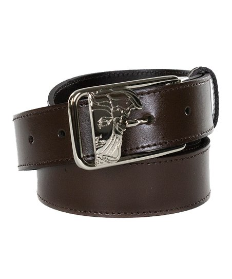 0a6801a6 Versace Collection Brown Open Logo Leather Belt - Men