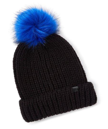 love this product Black   Blue Pom-Pom Beanie 5d550fecaca