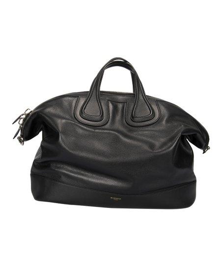 8d5423eda1ad Givenchy Black Nightingale Leather Overnight Bag