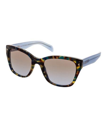 Prada Blueamp; Light Brown Square Sunglasses bf6gyv7Y