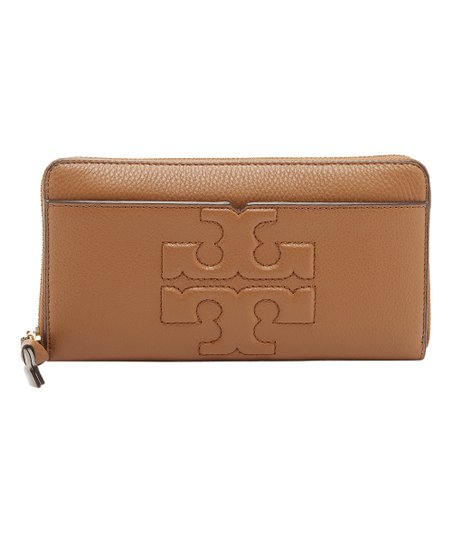 c05f6253c5 Tory Burch Bark Bombe-T Zip Leather Continental Wallet | Zulily