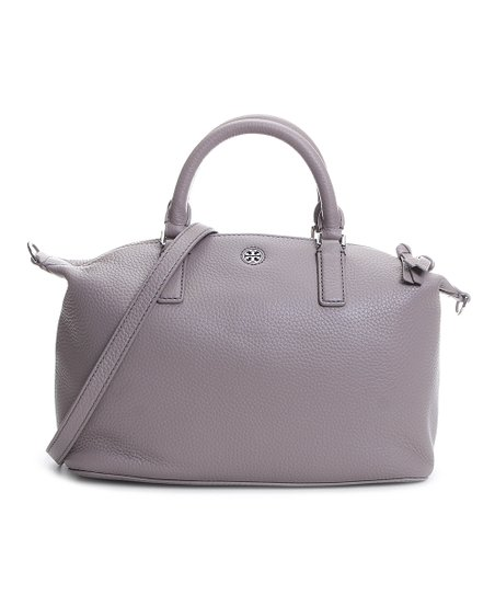 6eed663c39 Tory Burch French Gray Brody Small Slouchy Leather Satchel | Zulily
