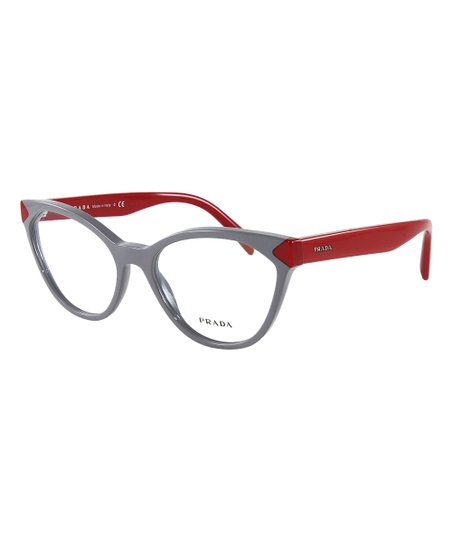 fff5b1cdd3be love this product Gray & Red Cat-Eye Eyeglasses