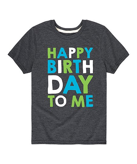 Love This Product Heather Charcoal Happy Birthday To Me Tee