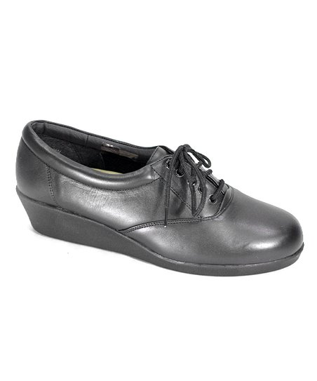 6dd2f4660aa6 24 Hour Comfort Black Leather Oxford Walking Shoe - Women