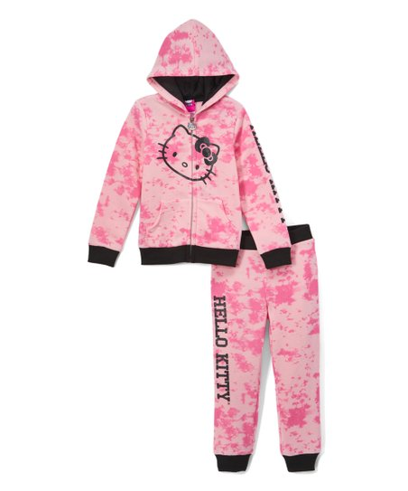 721557fe3 love this product Hello Kitty Pink & Black Fleece Hoodie & Joggers - Toddler