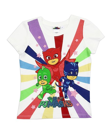 375273b8 love this product PJ Masks White Burst Tee - Toddler