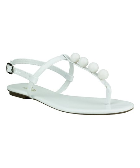 b9cb5551dc5a love this product White Patent Ball-Accent Sandal - Women