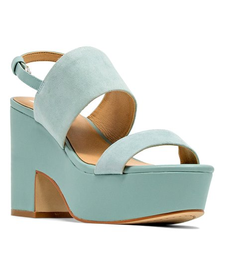 e0104571ea4a94 love this product Sky Blue Richmond Leather Platform Sandal - Women