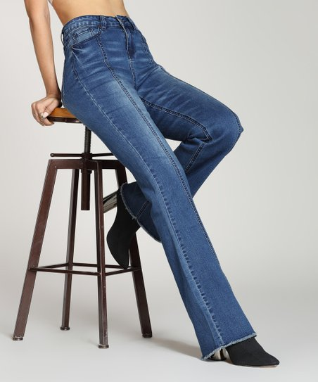 99d9c9d2 Suzanne Betro Denim High-Waist Flare Jeans - Women & Plus | Zulily