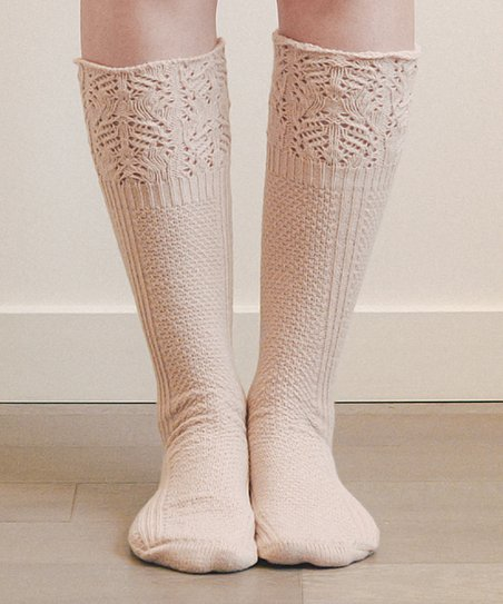 0ac774e7e love this product Pink Lace-Top Knee-High Socks