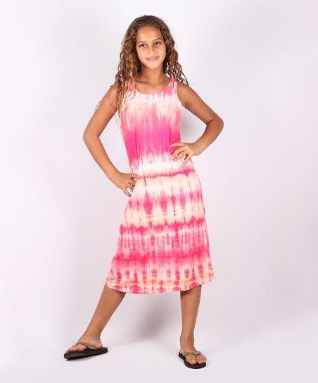 Girls Tie Dye Maxi Dress