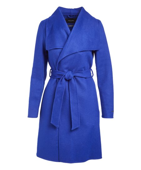 Lapis Blue Ellie Wool Double Face Coat   Women by T Tahari