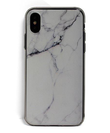 hot sale online e7e39 16042 Tech Zebra White Marble iPhone X Case