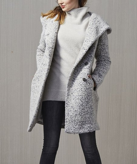Haan Hooded Women Cole WhiteGray Coat OkX80wnP