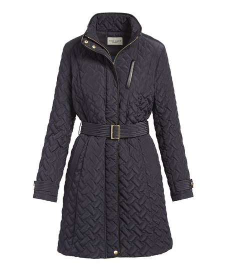 Cole Haan Womens Quilted Trench Coat