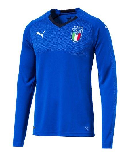 c32c05495 love this product Team Power Blue   Peacoat FIGC Italia Home Replica  Long-Sleeve Tee - Men