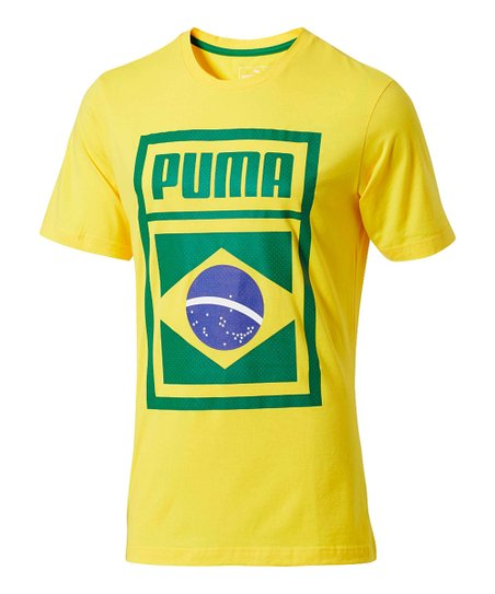 9ee719db012 PUMA Dandelion Brazil Forever Football Country Tee - Men | Zulily