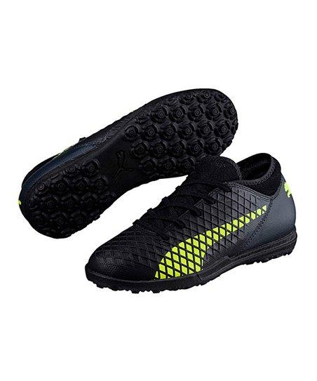 3de318aa4 PUMA Black   Fizzy Yellow Future 18.4 TT JR Soccer Shoe - Kids