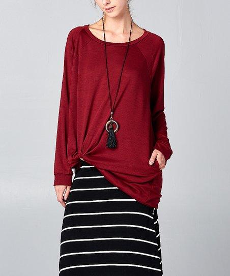82ff41a2d467 Burgundy Pocket Sweatshirt Dress - Women