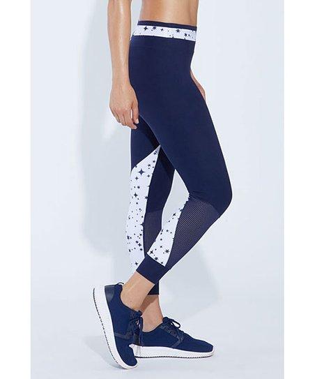 4478eef61af772 love this product Peacock & White Stars Tempo Leggings - Women