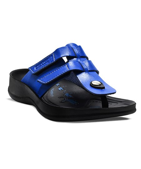 12b789ac6c0 love this product Royal Blue Gladiator Slide Sandal - Women
