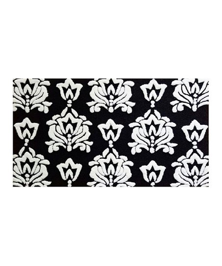Black White Damask Rug Zulily