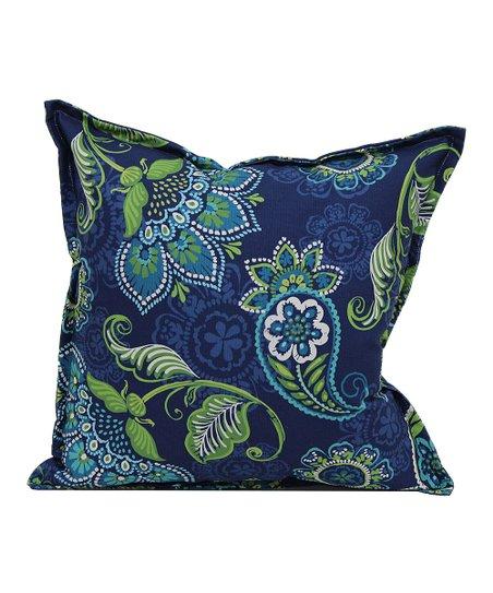 Brentwood Originals Blue Paisley Indoor Outdoor Throw Pillow Zulily