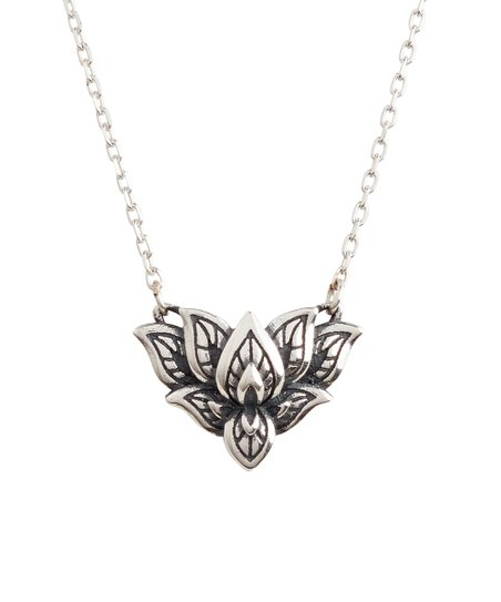 3c01f6bbc6616 Montaglia Sterling Silver Lotus Pendant Necklace