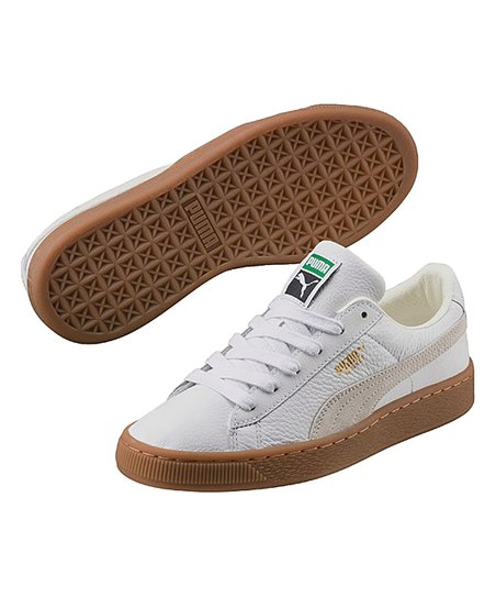 4f31d91ea77 love this product White Basket Classic Gum Deluxe Suede Sneaker - Boys