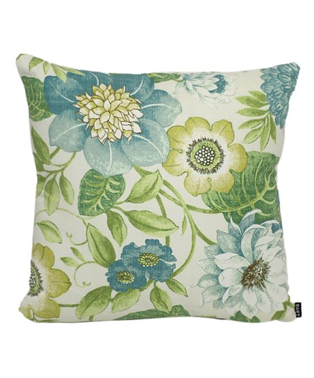 lava pillows Blue   Green Floral Indoor Outdoor Throw Pillow  9cf37baa0