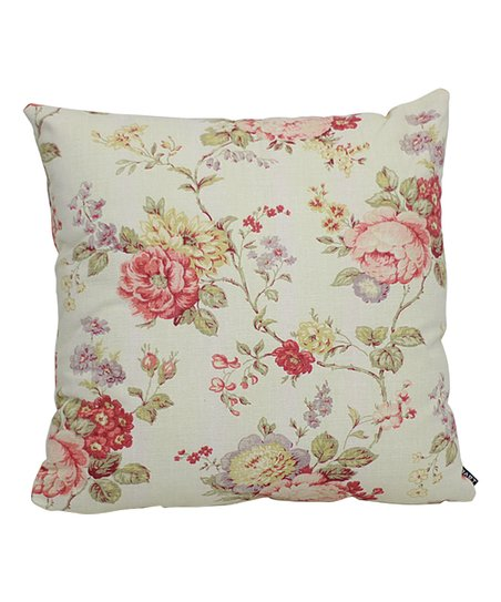 Lava Pillows White Red Floral Throw Pillow Zulily