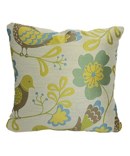 lava pillows Green Birds Throw Pillow  5943f4a32