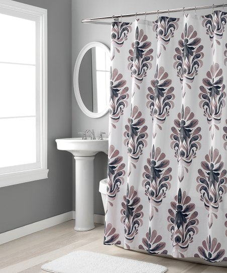 Gray Mauve Emery Shower Curtain