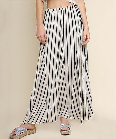 9e344ed834df7 love this product Off-White & Black Stripe High-Waist Maxi Skirt - Women