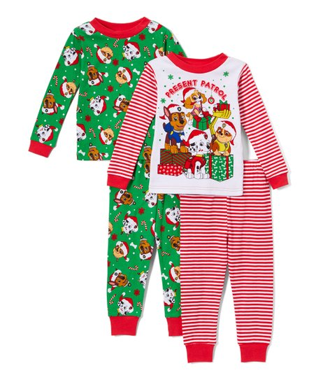 love this product Green   Red Paw Patrol Pajama Set - Set of Two f842e8b2a