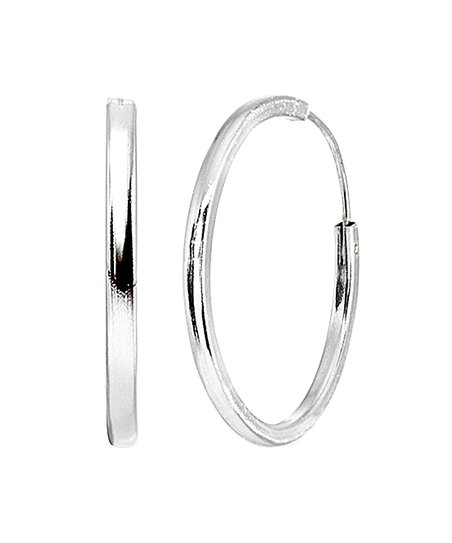 9912a9d57 love this product Sterling Silver Endless Hoop Earrings