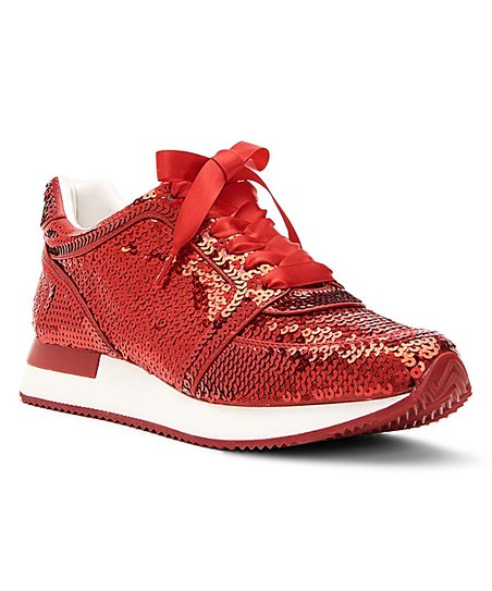 Katy Perry Footwear Red Lena Sequin Sneaker - Women  7b87f761a