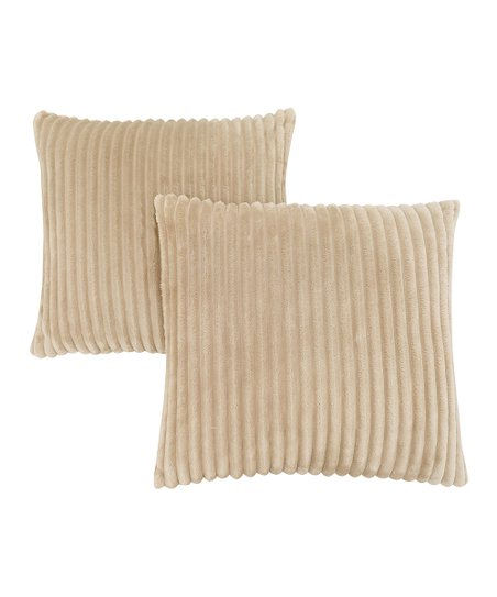Magnificent Monarch Specialties Beige Ribbed Throw Pillow Set Of Two Ocoug Best Dining Table And Chair Ideas Images Ocougorg
