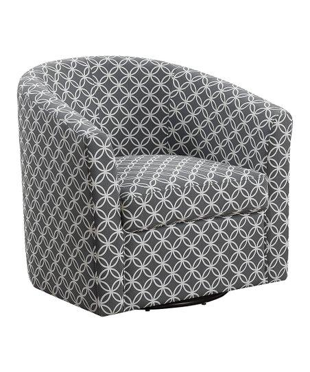 Superb Monarch Specialties Gray Circular Swivel Accent Chair Creativecarmelina Interior Chair Design Creativecarmelinacom