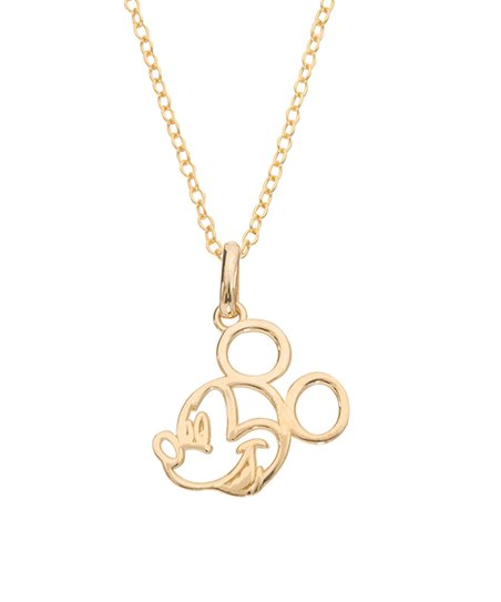 a9fdce1ad9b love this product Disney Mickey Mouse 14K Yellow Gold Silhouette Pendant  Necklace
