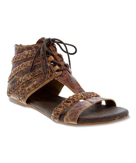 13849387ac3 ROAN Brown Poppy Leather Sandal - Women