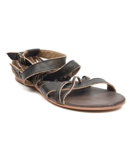 26dd6085f5fb ROAN Black Gretch Leather Sandal - Women