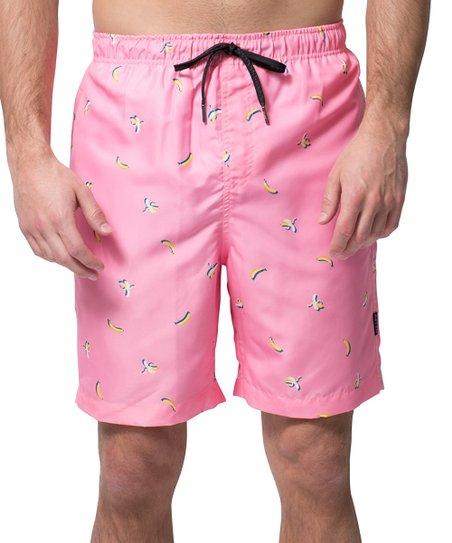 008a6f8c04 Brooklyn Cloth Pink Banana Swim Trunks - Men   Zulily
