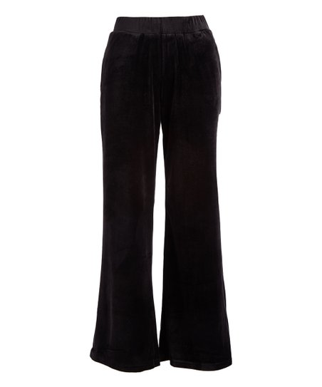 love this product Black Wide Leg Velvet Pants - Women fa244dc0a