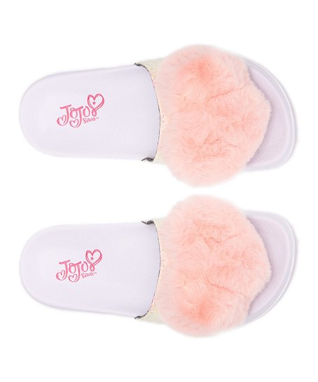 Ground Up Slip On JoJo Siwa Fur Heart Sandals