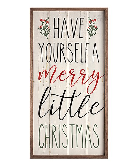 Kendrick Home Wood A Merry Little Christmas Wall Art Best Price And Reviews Zulily