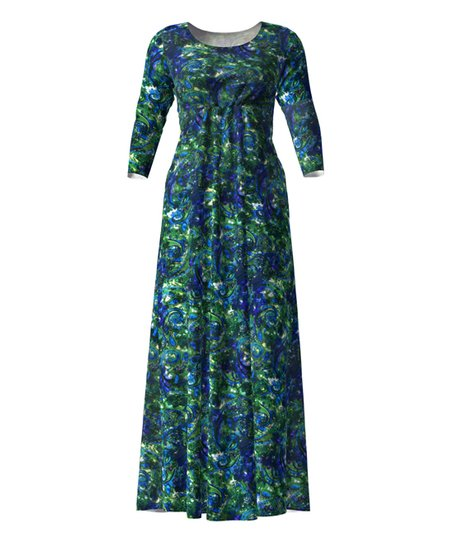 Casual Maxi Dresses with Sleeves Royal Blue