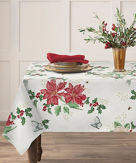 Butterfly Meadow Poinsettia Tablecloth