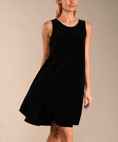 855e9edf4b67a1 Lbisse Black Velvet Sleeveless Dress - Women